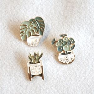 Enamel Pins for the Plant Ladies. Set of 3!